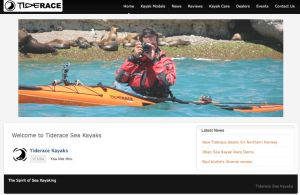 Tiderace sea kayaks website
